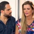 Luciano Camargo falou sobre a paixão pela mulher, Flávia, no 'Domingo Espetacular' desse domingo, 24 de janeiro de 2016