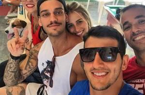 Lucas Lucco não assume namoro, mas é fotografado agarradinho com Lorena Carvalho