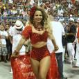 Viviane Araújo prestou uma homenagem à pombo-gira, Maria Padilha, no ensaio técnico do Salgueiro e foi alvo de críticas