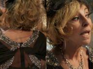 Microfone de Marília Pêra aparece nas costas da atriz em cena de 'Pé na Cova'