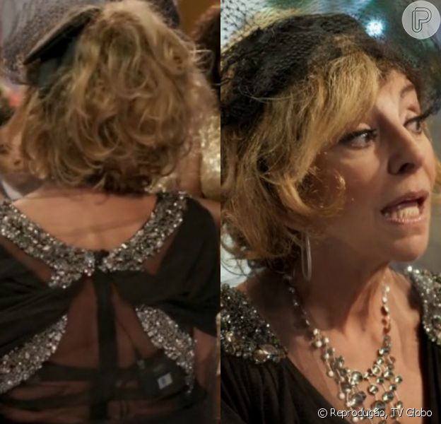 Microfone de Darlene (Marília Pêra) vazou em cena de episódio de 'Pé na Cova' exibido nesta quinta-feira, 28 de janeiro de 2016