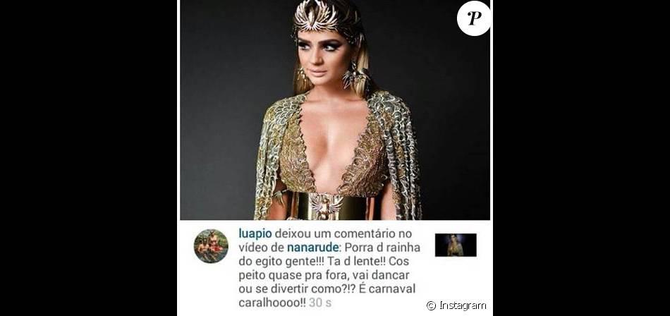 Luana Piovani critica blogueira de moda