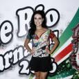 Paloma Bernardi, rainha de bateria da Grande Rio, foi à feijoada da escola em hotel de São Conrado, Zona Sul do Rio de Janeiro, neste sábado, 30 de janeiro de 2016