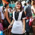 Bianca Comparato usa fantasia inspirada na série 'Downton Abbey'