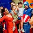 Juliana Paes se diverte ao lado dos filhos em festa de aniversário de Pedro, seu filho mais velho