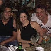 Fernanda Vasconcellos e Cássio Reis se encontram com André Marques: 'Amores'