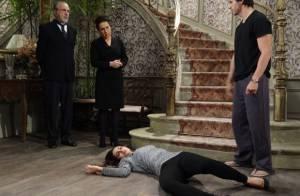 'Amor à Vida': Leila cai da escada em choque ao ver vestido de noiva de Nicole