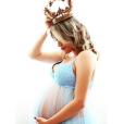 Jéssica Costa, filha do cantor Leonardo, fez um ensaio com o barrigão de grávida