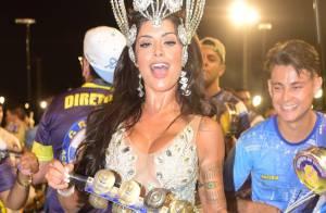 Oito fantasias de Aline Riscado, musa de camarote no Carnaval, custam R$ 64 mil
