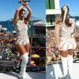 Ivete Sangalo comandou o trio no sábado, 06 de fevereiro de 2016, vestida de Guerreira, com um body branco e com referências afro