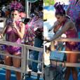 A vocalista do Babado Novo voltou a brilhar com um figurino bem colorido e alegre, destacando a ótima forma. Mari Antunes comandou mais um dia de bloco no domingo, 07 de fevereiro de 2016
