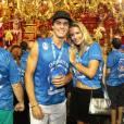 Yasmin Brunet levou o marido, Evandro Soldati, ao bloco da Boa na Sapucaí