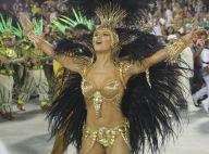 Claudia Leitte usa fantasia de R$ 100 mil banhada a ouro em desfile da Mocidade