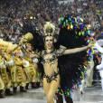 Bruna Fonseca é rainha de bateria da paulista Unidos de Vila Maria