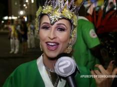 Carla Diaz revela dieta do dia do desfile:'Paçoca. Dá energia sem inchar'. Vídeo