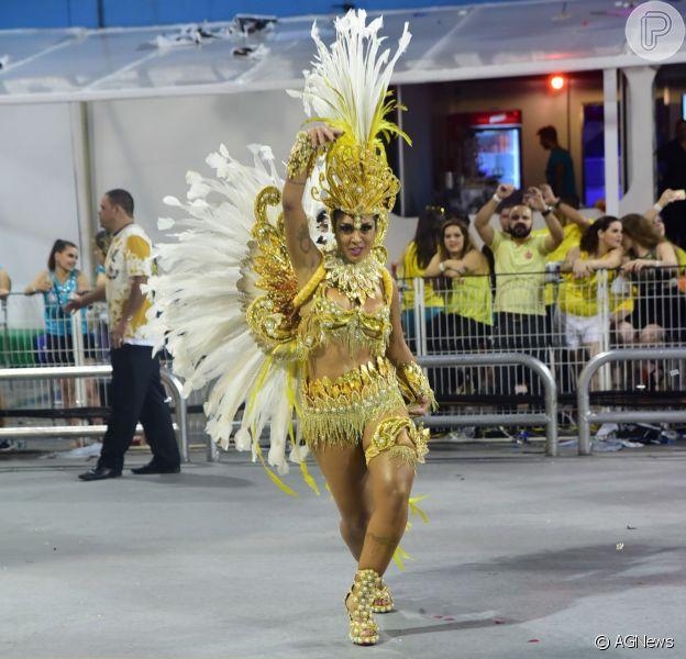 Amanda Djehdian foi a vice-campeã do 'BBB15' e desfilou pela Gaviões da Fiel em São Paulo e, no Rio de Janeiro, vai desfilar na Imperatriz Leopoldinense