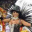 Fabiana Teixeira foi a vice-campeã do 'BBB12' e é a Rainha de Bateria da Tom Maior, em São Paulo