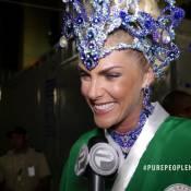 Ana Hickmann come carboidrato em gel antes de desfile: 'Dá força'. Vídeo!