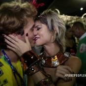 Julianne Trevisol ganha beijo e elogios do namorado antes de desfilar. Vídeo!