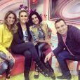 A morena com a equipe do programa 'Hoje em Dia' logo depois de deixar o reality  show