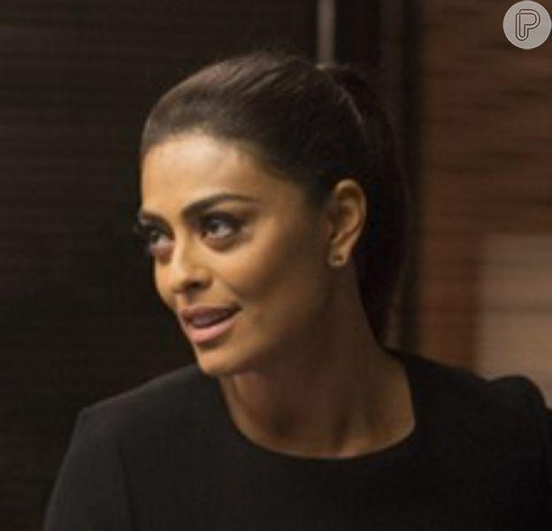 Carolina (Juliana Paes) contará para Lili (Vivianne Pasmanter) que Eliza (Marina Ruy Barbosa) é filha de Germano (Humberto Martins) em 'Totalmente Demais'