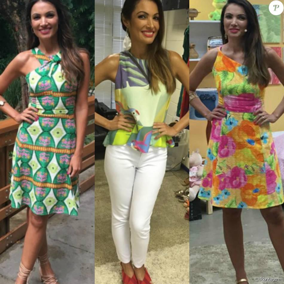 49a31a338a Looks de Patricia Poeta chamam a atenção dos telespectadores do  É de ...