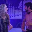 Ana Paula e Renan na Festa Trem Expresso, quando ela agrediu o brother, na madrugada de sábado (05)