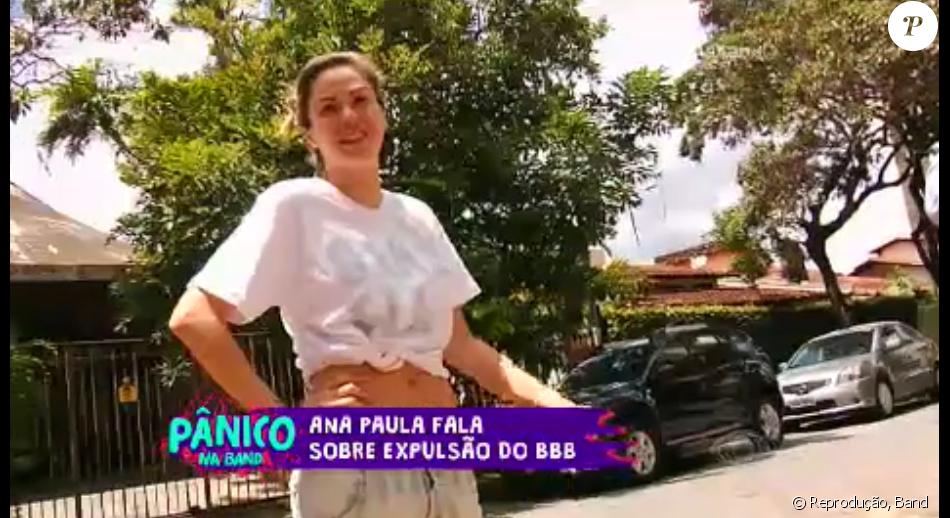 Ana Paula, eliminada de 'BBB16', questionou um suposto termo do contrato que assinou com a TV Globo em uma conversa registrada pelo 'Pânico na Band'