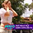 Ana Paula  disse que uma das cláusulas de vínculo com a emissora estabelece a punição tanto para o agressor quanto para o eventual provocador ao longo do reality show