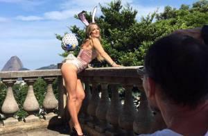 De coelhinha, Luana Piovani exibe curvas e dá prévia de ensaio para 'Playboy'