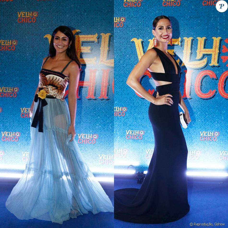 d913d549a Carol Castro e Camila Pitanga apostaram em vestidos cheios de estilo para a coletiva  de