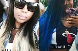 Ludmilla muda cor do cabelo para azul em degradê e fã elogia: 'Linda e estilosa'