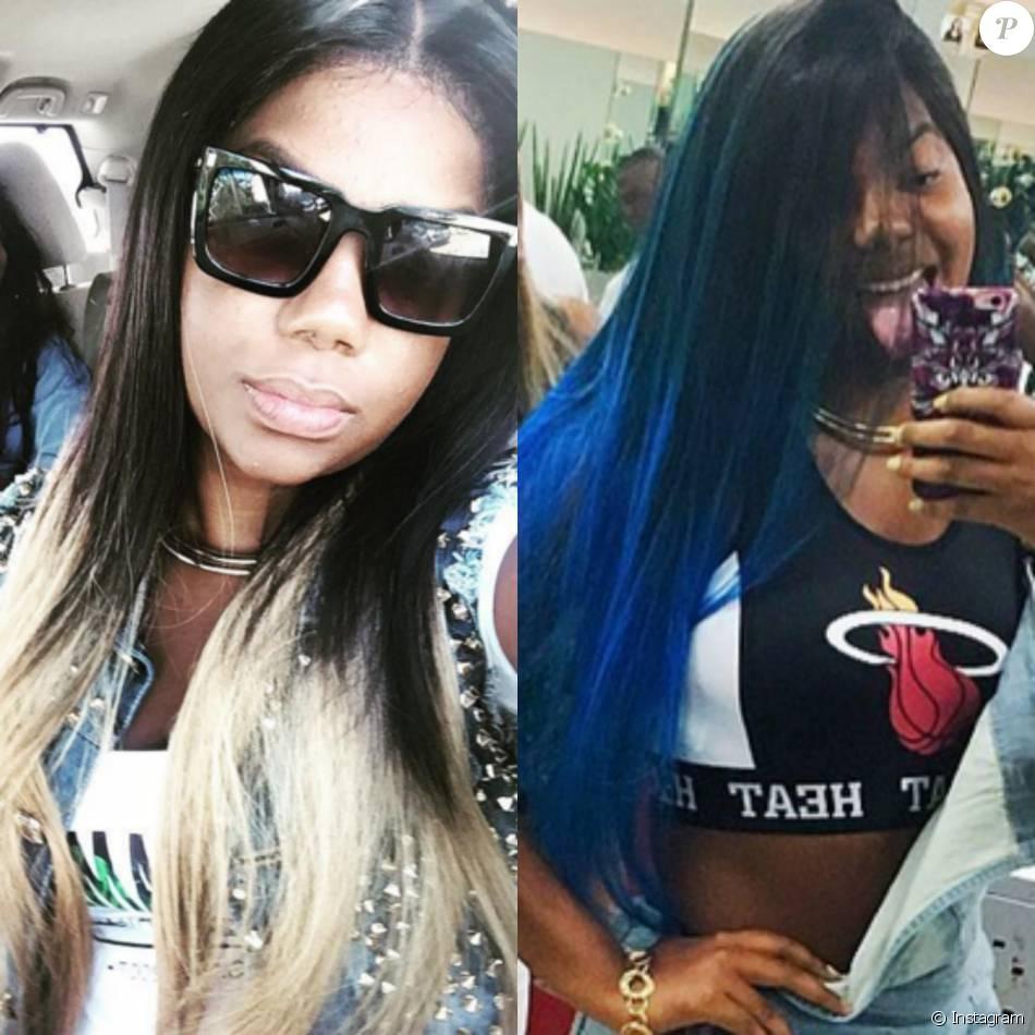 Ludmilla muda o visual e azul é a nova cor de seus cabelos