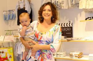Luana Piovani e Regiane Alves levam os filhos a evento de moda infantil. Fotos!
