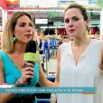 Atena e Giovanna Ewbank foram ao Mercadão de Madureira em matéria exibida no 'Vídeo Show'