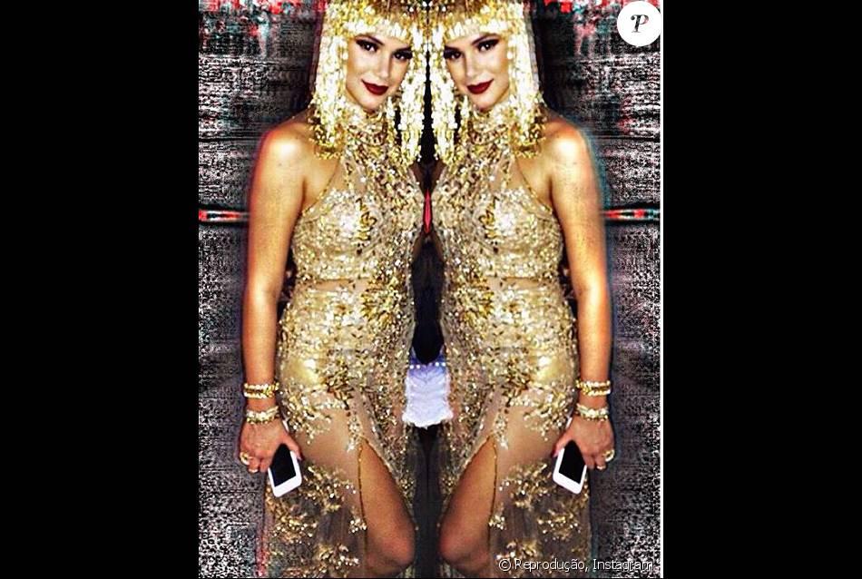Personagem de Bruna Marquezine Beatriz se veste de Cleópatra em gravações de 'Nada Será Como Antes' realizadas na madrugada de sábado, 12 de março de 2016, no Rio de Janeiro