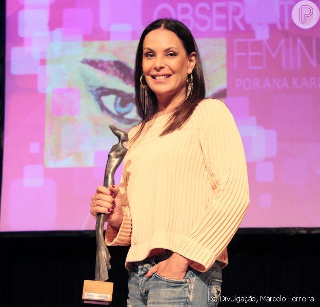 Carolina Ferraz  foi homenageada na noite desta terça-feira, 15 de março de 2016, em evento realizado no Recife