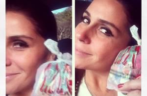 Giovanna Antonelli comemora o dia de São Cosme e Damião com saquinhos de doce