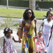Glória Maria comemora aniversário das filhas, Laura e Maria, no Rio