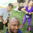 Fernanda Souza costuma fazer exercícios físicos com o marido, Thiaguinho