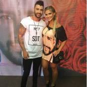 Andressa Suita usa vestido com rosto do marido, Gusttavo Lima: 'Look especial'