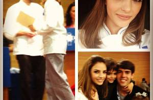 Carol Celico publica foto de sua formatura com o marido, Kaká, e os dois filhos
