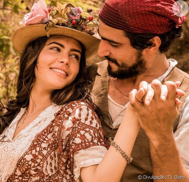 Em 'Velho Chico', Maria Tereza (Julia Dalavia) irá perder a virgindade com Santo (Renato Góes)