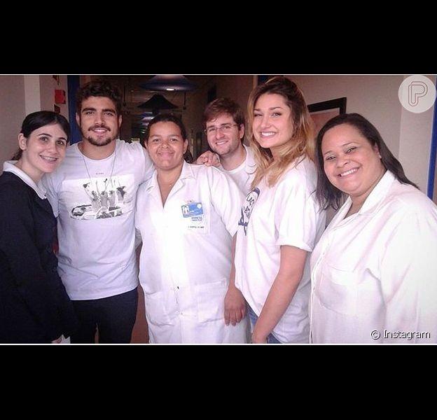 Caio Castro e Sasha Meneghel posam juntos em foto e despertam rumores de romance