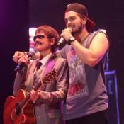 Xuxa se disfarça de músico de Luan Santana em show do cantor no Rio