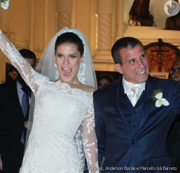 Eri Johnson e Alice Souto se casaram no sábado, 2 de abril de 2016, no Rio de Janeiro, em uma celebração recheada de famosos