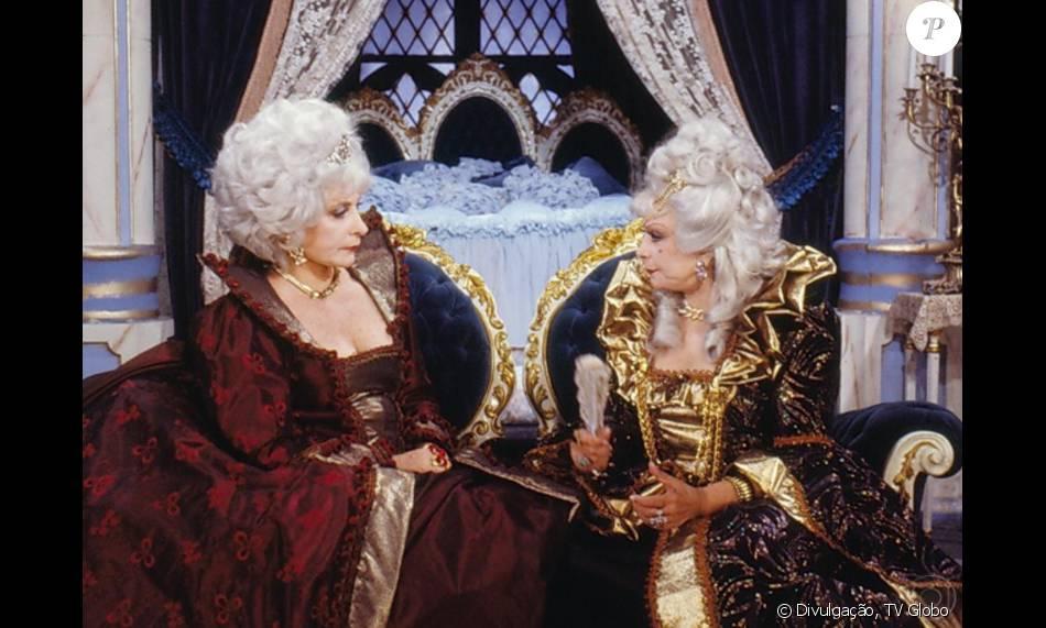 Tereza Rachel e Dercy Gonçalves foram filha e mãe na novela 'Que Rei Sou Eu?' (1989)