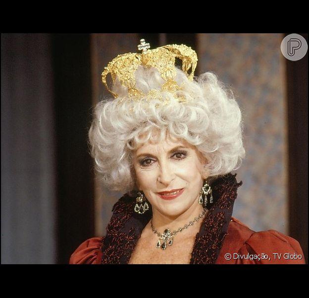 Tereza Rachel interpretou a rainha Valentine da novela 'Que Rei Sou Eu?' (1989)