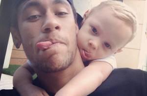 Neymar faz homenagem ao filho, Davi Lucca, no Dia das Crianças