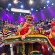 Rodrigo Faro homenageia o grupo 'Mamonas Assassinas', em julho, no seu programa.  Celso Zucatelli, Théo Becker, Raul Gazolla e MC Koringa posam para foto durante performances dos sucessos do grupo, que incluíram 'Pelados em Santos' e 'Robocop Gay'
